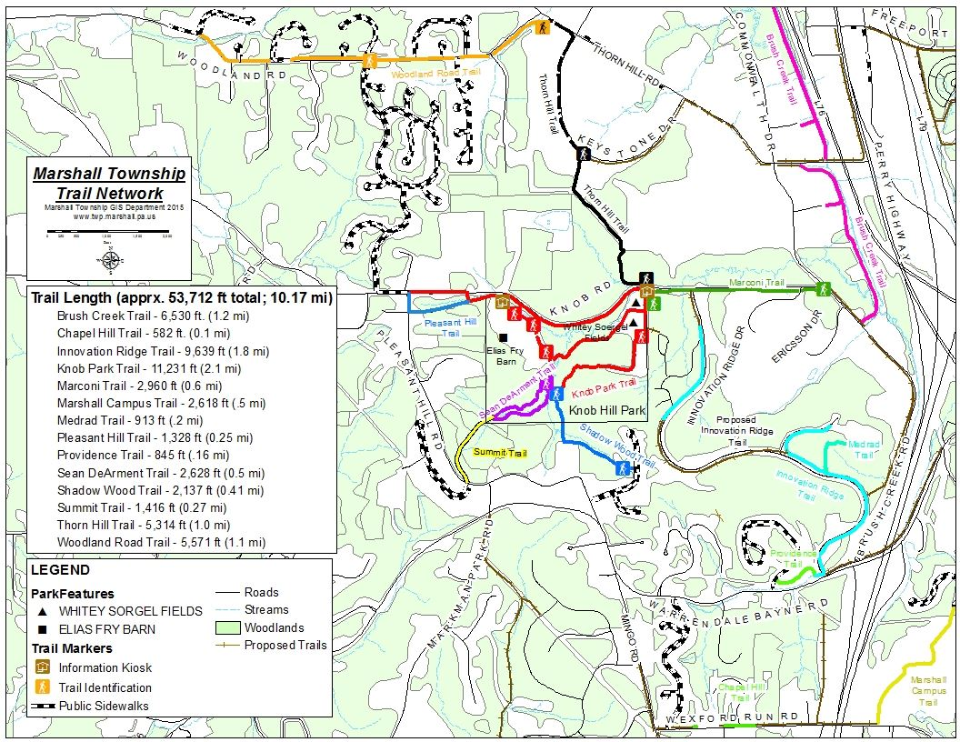 Marshall Township Trail Network Map (JPG) Opens in new window